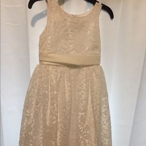 little girls white lace dress